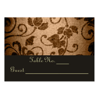 Vintage Floral Parchment Wedding Table PlaceCard Business Card Template