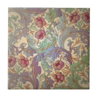 Vintage Floral Pattern - 5 Ceramic Tile