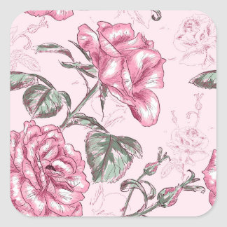 Vintage floral pattern any purpose sticker