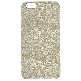 Vintage Floral Pattern Clear iPhone 6 Plus Case