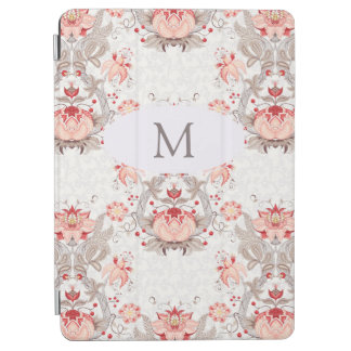 Vintage Floral Pattern damask Monogram iPad Cover