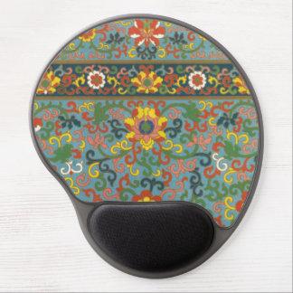 Vintage Floral Pattern Gel Mouse Mats