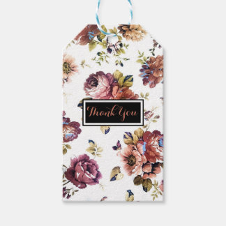 Vintage Floral Pattern GiftTag Gift Tags