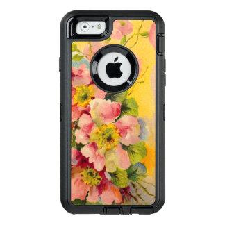 Vintage Floral Pattern OtterBox Defender iPhone Case