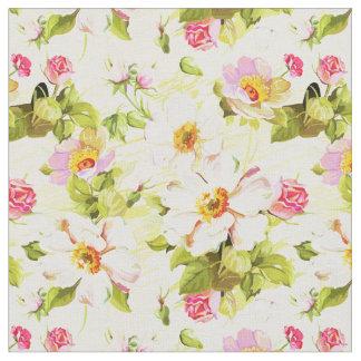 Vintage Floral Pattern Peonies Old Roses Fabric