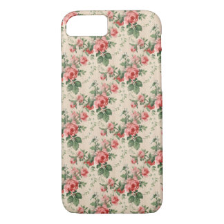 Vintage Floral Pattern Red Rose iPhone 8/7 Case