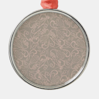 vintage floral pattern Silver-Colored round decoration