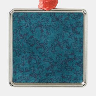 vintage floral pattern Silver-Colored square decoration