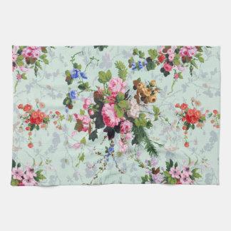 Vintage Floral Pattern Tea Towel