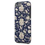 Vintage Floral Pattern Tough iPhone 6 Case