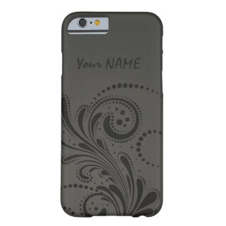 Vintage Floral Pattern with Name Barely There iPhone 6 Case