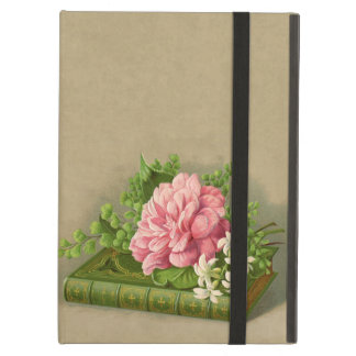 Vintage Floral Peony Classy Book Elegant Cover For iPad Air