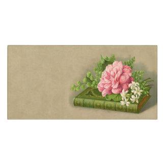 Vintage Floral Peony Classy Book Elegant Door Sign