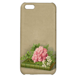 Vintage Floral Peony Classy Book Elegant iPhone 5C Cover