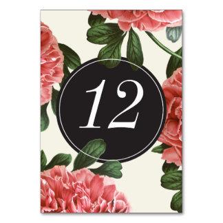 Vintage Floral | Pink Black & White Table Cards