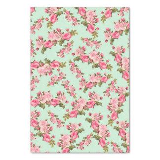 "Vintage Floral Pink Camellia Flowers Luxury 17"" X 23"" Tissue Paper"