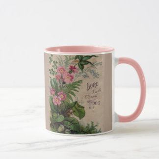 Vintage Floral Prayer Scripture Quote Mug