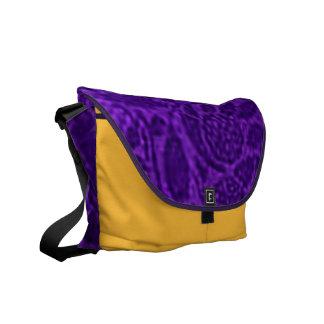 Vintage Floral Purple Messenger Bag