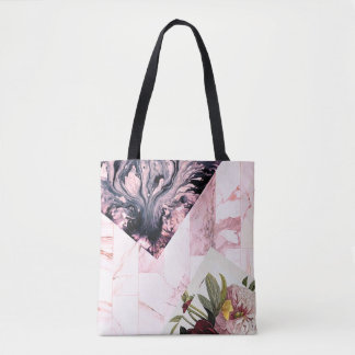 Vintage Floral Romance 'Venus' Statement Carryall Tote Bag