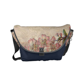 Vintage Floral Roses Antique Girly Beautiful Courier Bags