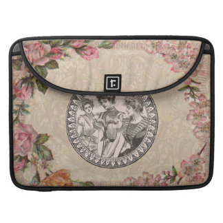 Vintage Floral Roses Antique Soft Girly Sleeve For MacBook Pro