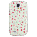 Vintage floral roses pink shabby chic rose flowers samsung galaxy s4 case