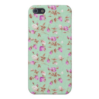 Vintage floral roses shabby rose chic flowers iPhone 5/5S case