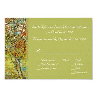 Vintage floral RSVP cards. For spring, summer wedd 9 Cm X 13 Cm Invitation Card