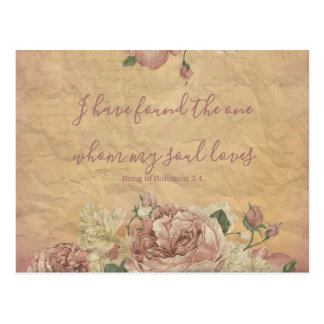 Vintage Floral Save the Date Postcard