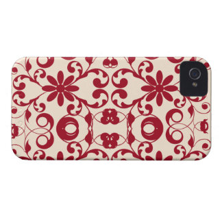 Vintage floral shabby and chic pattern Case-Mate iPhone 4 cases