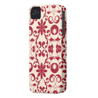 Vintage floral shabby and chic pattern iPhone 4 Case-Mate case
