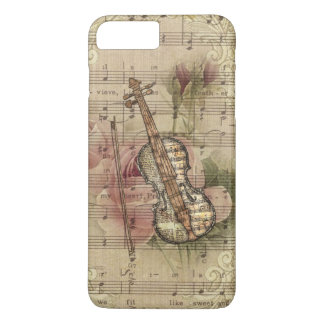 Vintage Floral Sheet Music Violin iPhone 8 Plus/7 Plus Case
