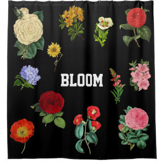 Vintage Floral Shower Curtain