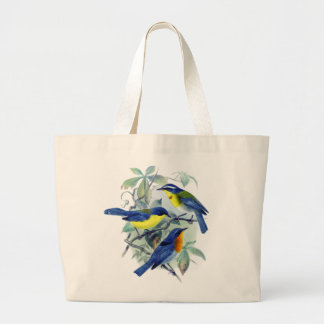 Vintage Floral Songbirds Apparel and Gifts Jumbo Tote Bag