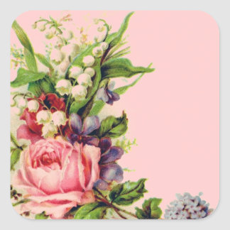 Vintage Floral Spray Stickers