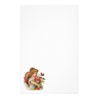 Vintage Floral Stationery on Recycled Paper