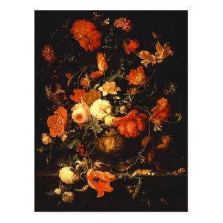 Vintage Floral Still Life - Abraham Mignon Postcard