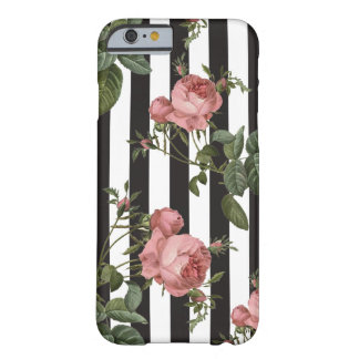Vintage Floral Striped iPhone Case
