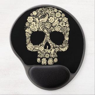Vintage Floral Sugar Skull Gel Mouse Pad