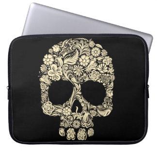Vintage Floral Sugar Skull Neoprene Laptop Sleeve