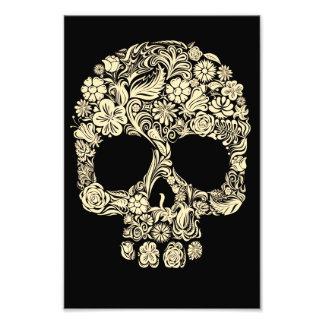 Vintage Floral Sugar Skull Art Photo