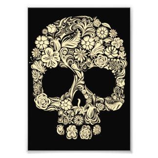 Vintage Floral Sugar Skull Photo Print