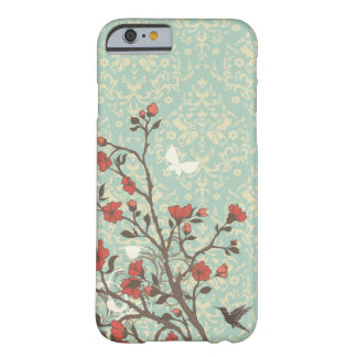 Vintage floral swirls damask + bird iPhone 6 case