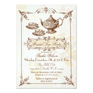vintage floral tea party Bridal Shower Invites