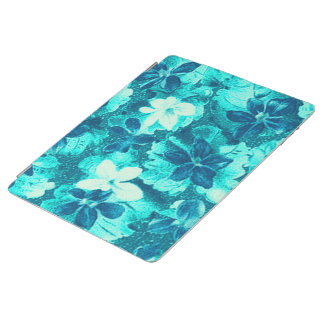 Vintage Floral Turquoise Teal iPad Cover