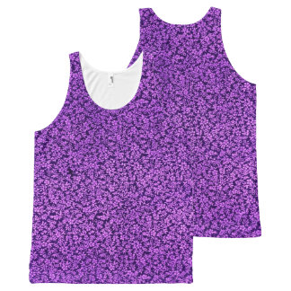 Vintage Floral Violet Amethyst Purple All-Over Print Tank Top