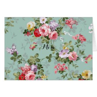 Vintage Floral Wallpaper Card