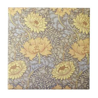Vintage Floral Wallpaper Chrysanthemums Tile