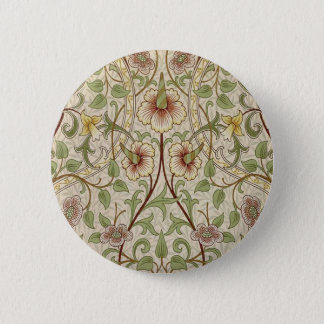 Vintage Floral Wallpaper Design - Daffodil 6 Cm Round Badge