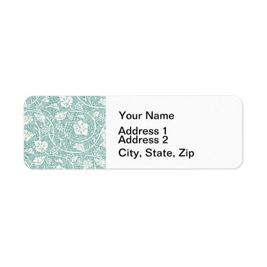 Vintage Floral Wallpaper Grape Pattern Return Address Label